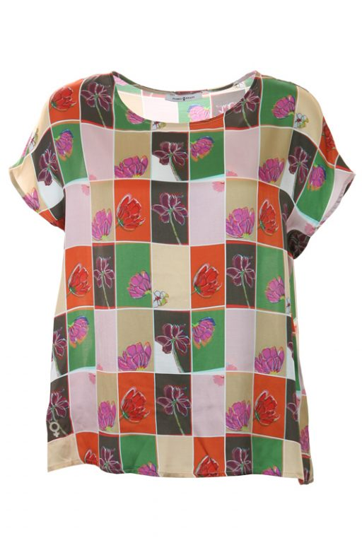 Funky Staff Blouse Como New Flower