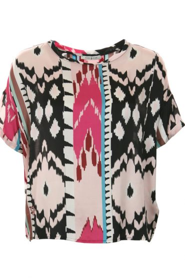 FUNKY STAFF Shirt Violet Ethno