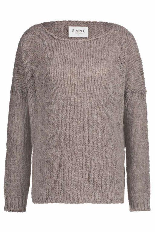 Simple Sascha Pullover Grau